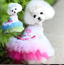 Dog Clothes for Small Dogs Dress Sweety Princess Dress Spring Summer  Lace - $6.00