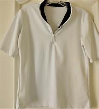 Stylish Women's Golf & Casual White Short Sleeve Mock Polo, Rhinestone Z... - $29.95