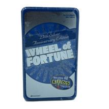 Wheel of Fortune 25th Silver Anniversary Edition In Tin 96 Puzzles 48 FO... - $10.29