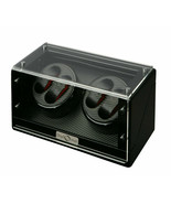 Diplomat Quad 4 Watch Winder Black Finish w/ Carbon Fiber Interior 31-476 - $247.50