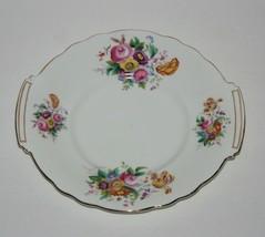 Vintage Cake Plate Sandwich Tray 50's, Bone China From England, Coalport - $49.86