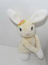 Dakin Vintage Plush Cream Hugging Girl Bunny Rabbit 1977 Korea felt flow... - $8.90