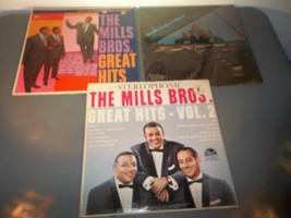 THE MILLS BROTHERS, Great Hits on 33 1/3 RPM Lp Record - £5.61 GBP