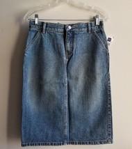 GAP JEANS Denim Pencil Skirt, 100% Cotton, Blue, Light Faded, Size 2, NWT - $24.29