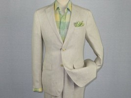 Men High Quality Linen Summer Suit by ENZO Breathable E58302-7 Natural b... - $119.96
