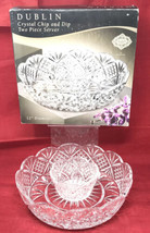 """Godinger Dublin Shannon Crystal Collection 12"""" Chip and Dip 2 Piece Bowl... - $34.64"""