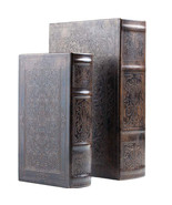 2pc Faux Book Safe Set with Magnetic Closure or Storage Box for Craft Su... - $29.99