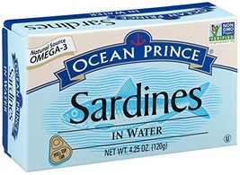 Ocean Prince Sardines in Water, 4.25-Ounce Cans Pack of 12 packaging may vary