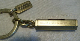 Coach Level Keychain Key Fob Mens Brass New Rare 92090 - $39.00