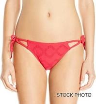 ROXY Junior Lacy Tage Binden Seitlich Bikini Unten, Rot Sonnenuntergang,... - $16.78