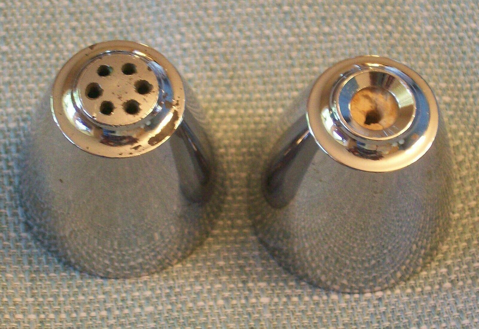 Vtg SPICE OF LIFE Salt and Pepper Shakers- ChromeTops -Corelle Gemco Corning GU  image 7