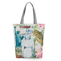 Free shipping Monroe printing bag Canvas Shoulder Tote handbag commuter stamp - $14.00