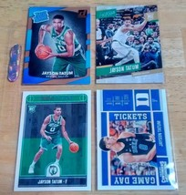 Jayson Tatum LOT(4) Rookie Cards Mint Condition US Free Shipping - $16.80