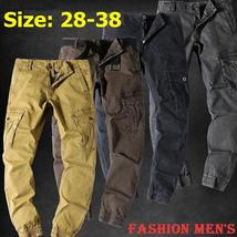 Tactical Cargo Pants Men's Casual Loose Multi-pockets Long Pants Combat Trousers