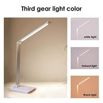 LED Desk Lamp with Wireless Charger, USB Charging Port, 3 Light Sources, 5 Color image 3