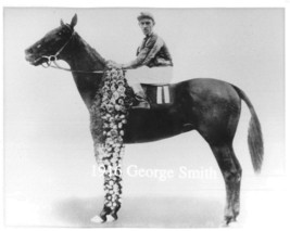 "1916 - GEORGE SMITH after winning the Kentucky Derby - 10"" x 8"" - $18.00"
