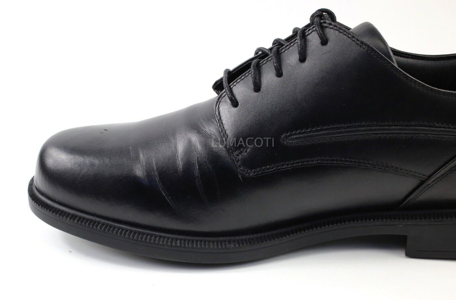 Mens Dunham Burlington Waterproof Plain Toe Oxford - Black Leather Size 15(4E)