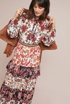 NWT ANTHROPOLOGIE EMILIE PATCHWORK RUFFLED MAXI DRESS by HEMANT & NANDITA - $170.99