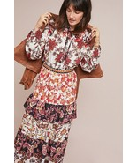 NWT ANTHROPOLOGIE EMILIE PATCHWORK RUFFLED MAXI DRESS by HEMANT & NANDIT... - $180.49