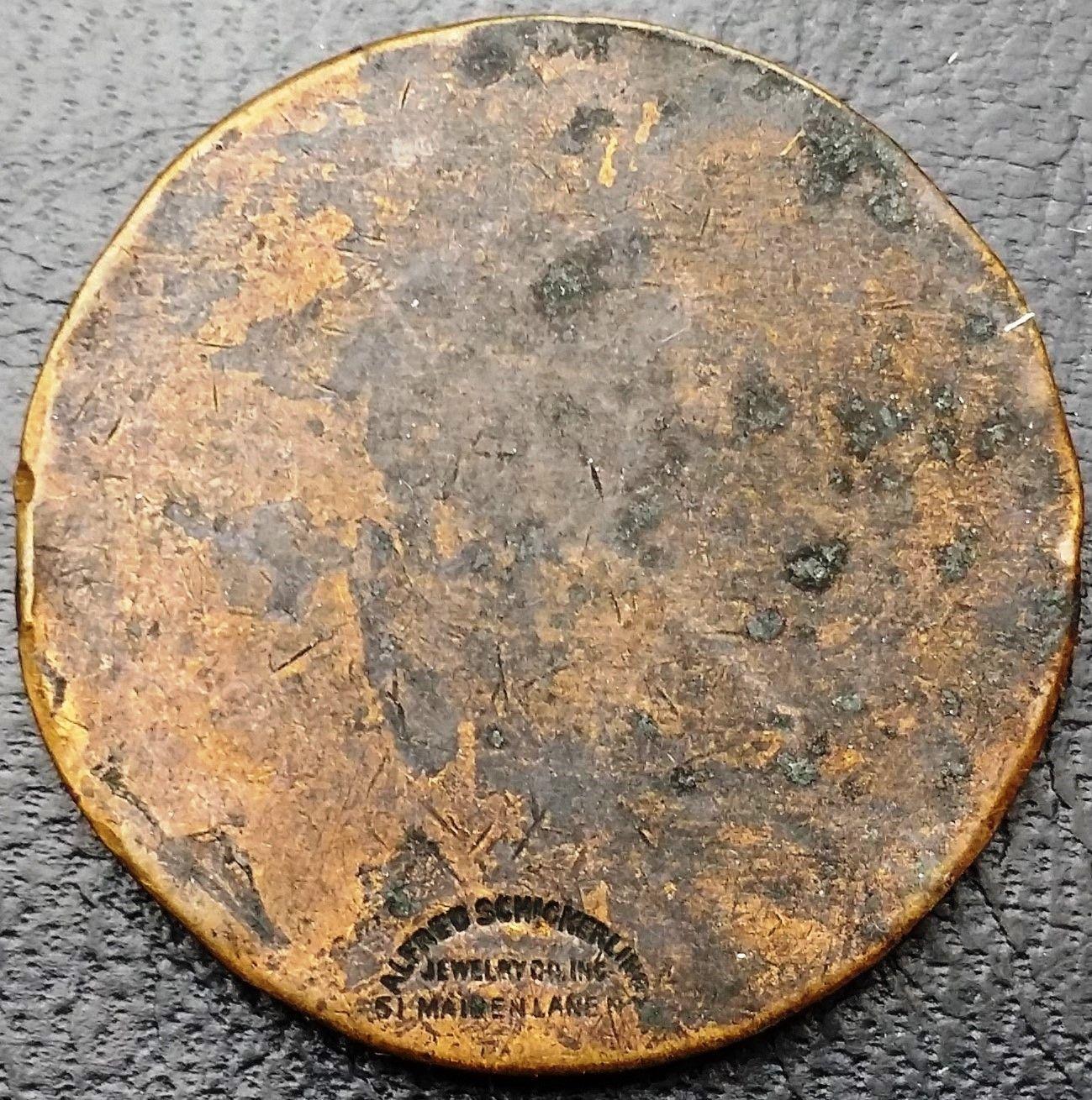 1918 BPOE Elks Lodge Jersey City Fraternal Order Medal - Alfred Schickerling NYC image 2