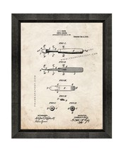 Dental Scraper Patent Print Old Look with Beveled Wood Frame - $24.95+