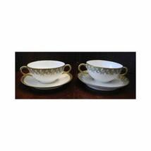 Vintage Haviland Limoges CREAM SOUPS (2) Underplates 1 plate unmatched pattern - $47.08