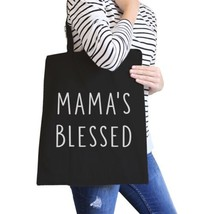 Mama's Blessed Black Canvas Teacher Tote Bag For Mother's Birthday - $21.22 CAD