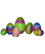 11' Easter Bunny EGG PATCH Lighted AIR Blown Inflatable Yard Deocr - $132.15