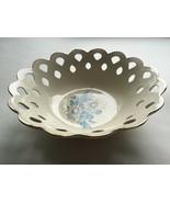 Lace Scalloped Ceramic Bowl Openwork Daisy Design Jamar Mallory 1980 US... - $40.19