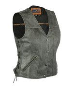 Women's Gray Single Back Panel Bike Concealed Carry Vest Daniel Smart Ap... - $99.95