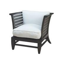 Premium Home Garden Patio Lounge Chair Teak Slat Cushions In White Comfo... - $383.20