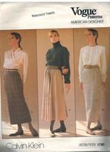 1790 sin Cortar Vogue Costura Patrón Misses Recto Acampanada Falda Calvi... - $8.94