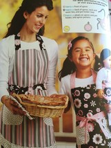 """** Ellie Mae Designs Sewing Pattern K0103 Misses Girls 18"""" Doll Matching Aprons - $14.85"""