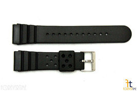 22mm for SEIKO Z-22 Divers Heavy Black Rubber Watch Band Strap - $16.11