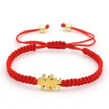 Cute Bear Brand Stainless Steel Little Girl Lucky Red Rope Bracelets For Women F - $19.23