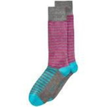 Men's Socks Alfani Mens Purple Striped  Seamless Toe Casual Socks Size 10-13 - $3.94
