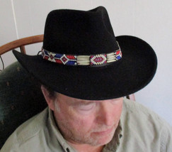 Custom Made Will you wear the Red, White & Blue Hatband with Porcupine Q... - $84.00
