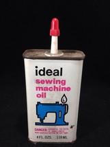 ANTIQUE Ideal Brand Sewing Machine Oil Unopened Sealed Can - SINGER & OT... - $28.04
