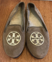 Tory Burch Billy Womens Size 7M Tan Slip On Slipper Loafers Comfort Flats Shoes - $97.02