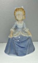Bell Girl in Blue Dress Porcelain - $9.62