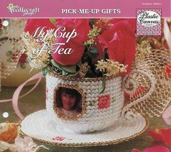 My Cup of Tea Photo Frame TNS Plastic Canvas Pattern Leaflet NEW - $2.67