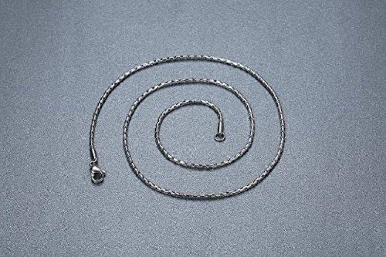 Men's Stainless Steel Lord's Prayer Cross Halo Pendant Necklace, Black, 23''