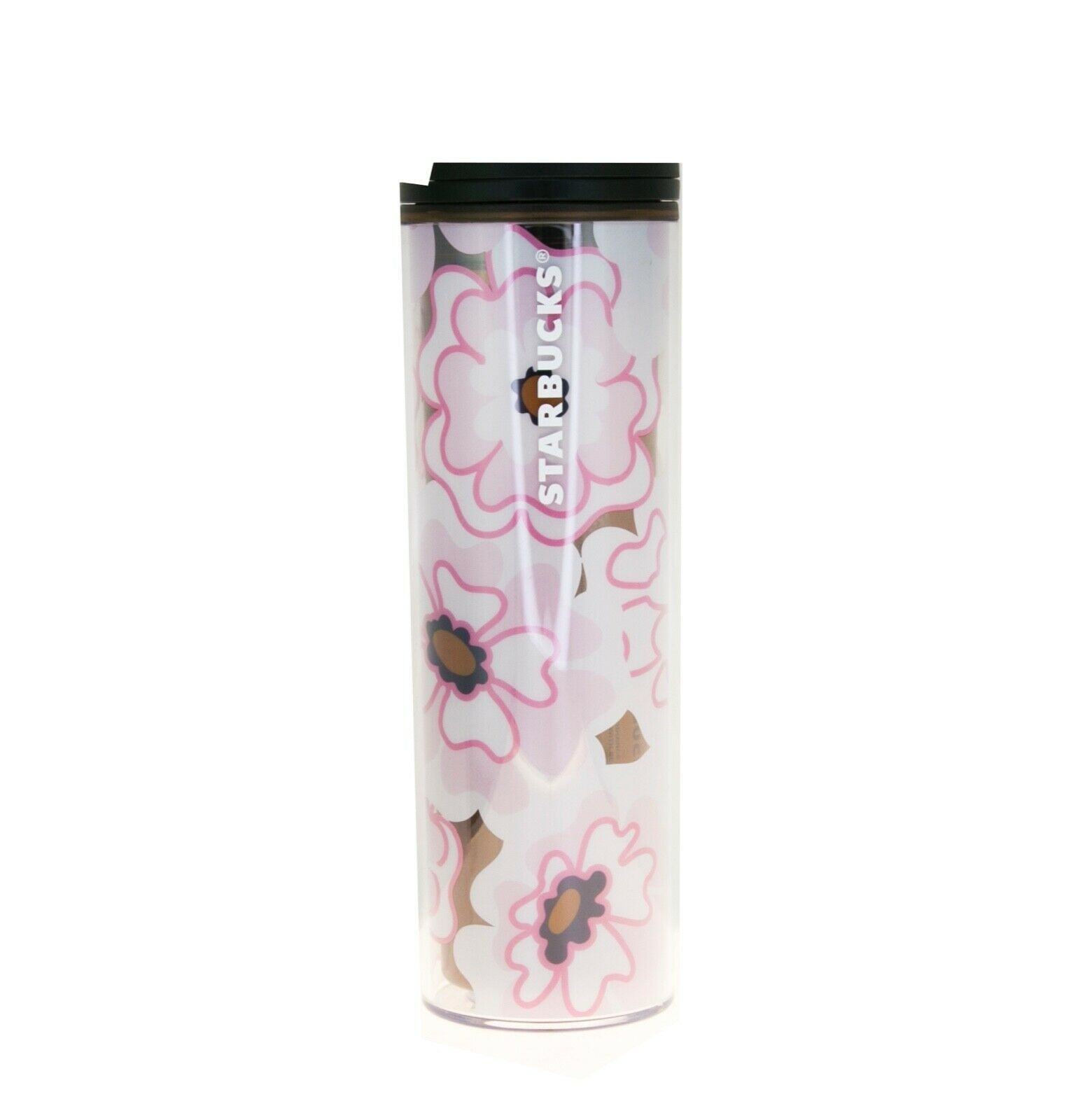 Primary image for Starbucks Pink Floral Summer Gold Foil Acrylic Travel Tumbler Cup 16 oz Grande