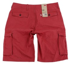 BRAND NEW NWT LEVI'S MEN'S COTTON CARGO SHORTS RELAXED FIT PINK 124630167 image 2
