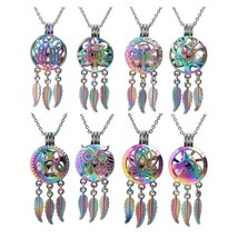 1pc Rainbow Owl Tree Wing Paw Dragonfly Lotus Flower Dream Catcher Pearl... - $9.82