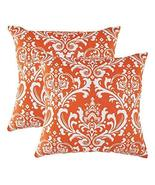 TreeWool 2 Pack Throw Pillow Covers Damask Accent Decorative Pillowcases... - $18.99