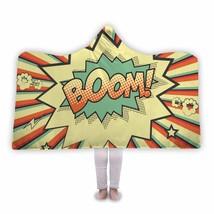 Awesome Cool Boom Hooded Blanket Comic Book Pop Art - $52.00