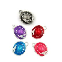 WOMEN'S HAT FINE PEWTER PENDANTS CHARMS 14x20x9mm - You choose color