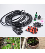 25M Micro Irrigation Plant System Sprinkler Garden Automatic Watering T... - $35.99