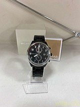 Michael Kors Quartz Analog Wristwatch Blk 10ATM MK-8575 F/S Very Good From Jp - $282.14